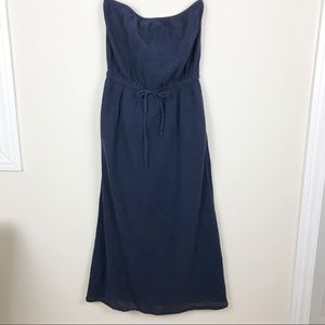 J. Crew Strapless Blue Dress Size Medium